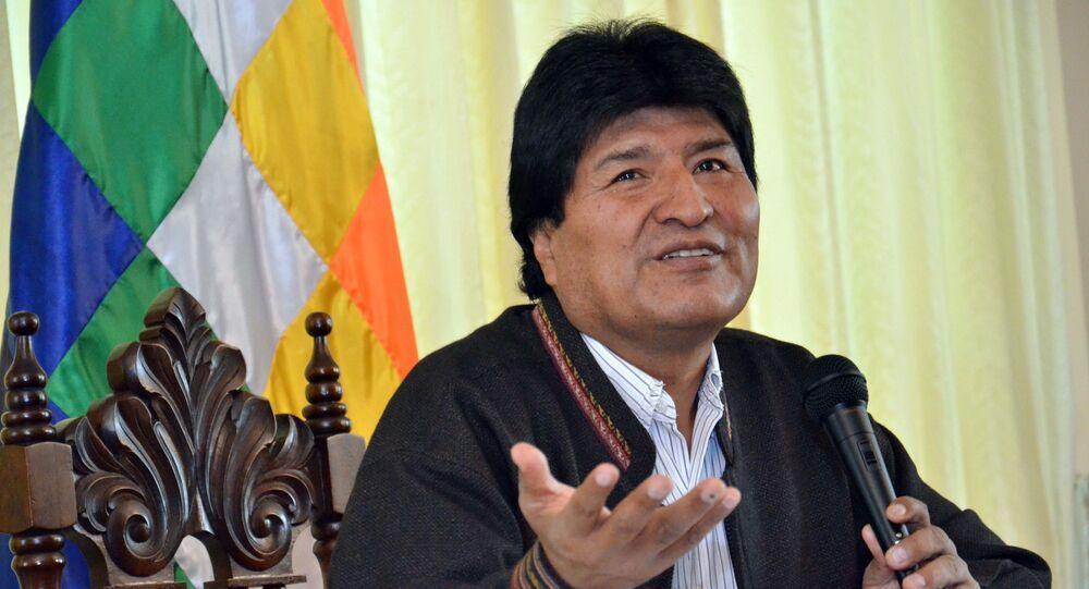 Evo Morales, presidente da Bolívia.