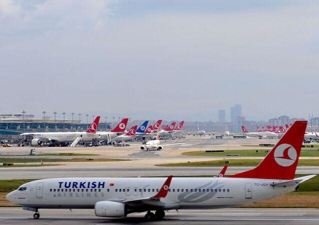 Avião da Turkish Airlines.
