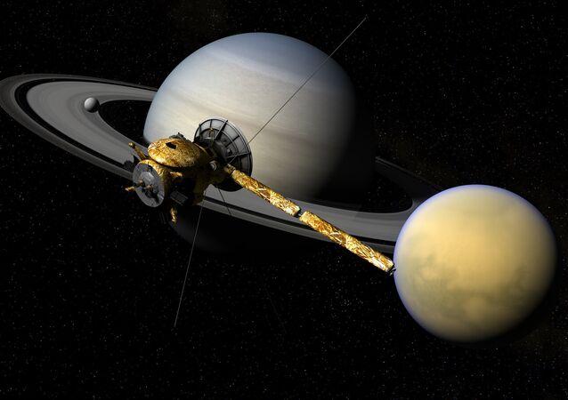 Cassini, Titã e Saturno