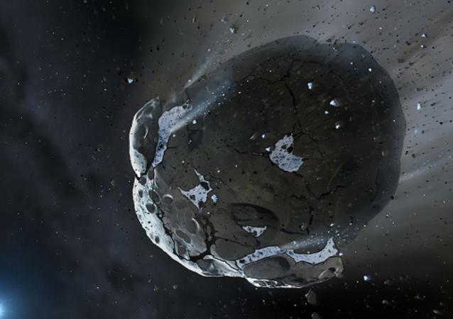 Asteroide no espaço