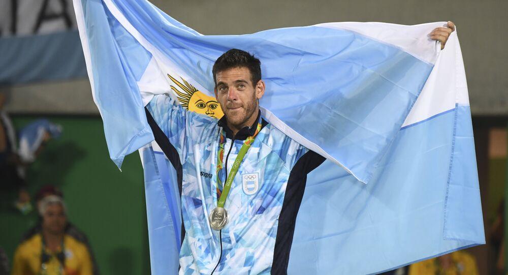 Juan Martín del Potro, tenista argentino vice-campeão olímpico