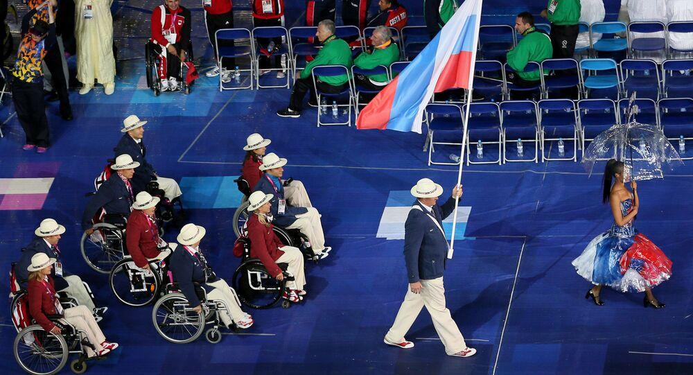 Delegação russa nas Paralimpíadas de Londres