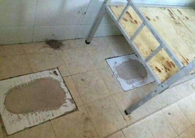 O quarto que anteriormente era banheiro