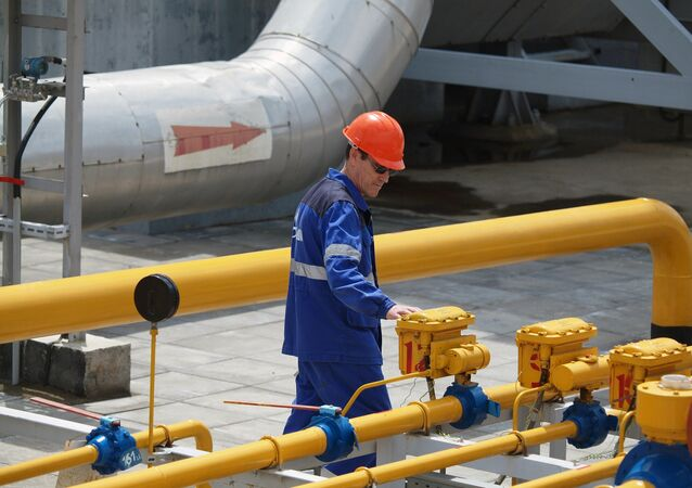 Estação de transporte de gás exportado de Krasnodar, Rússia (foto de arquivo)