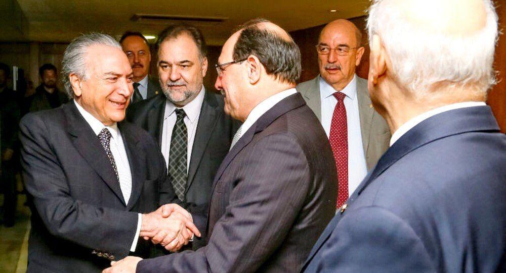 Presidente em Exercício Michel Temer recebe José Ivo Sartori, Governador do Rio Grande do Sul