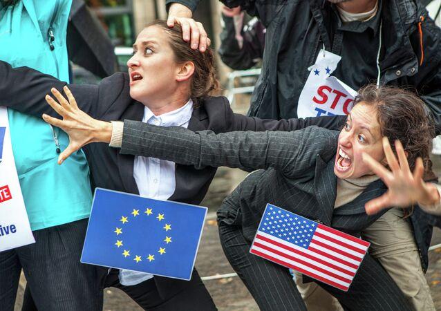 A UE e os EUA não conseguem alcançar uma solução mutuamente aceitável.