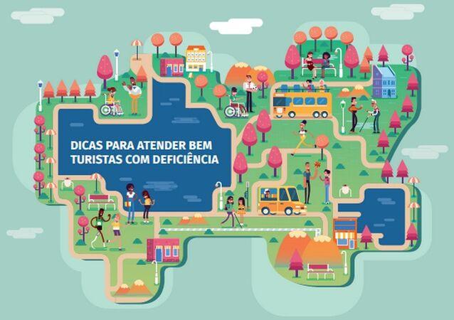 Cartilha dá dicas para atender bem turistas com deficiência