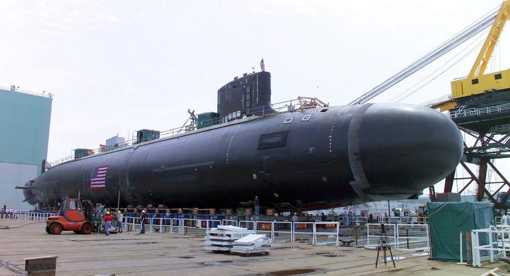 Submarino norte-americano Virginia SSN 774, Connecticut, EUA (foto de arquivo)