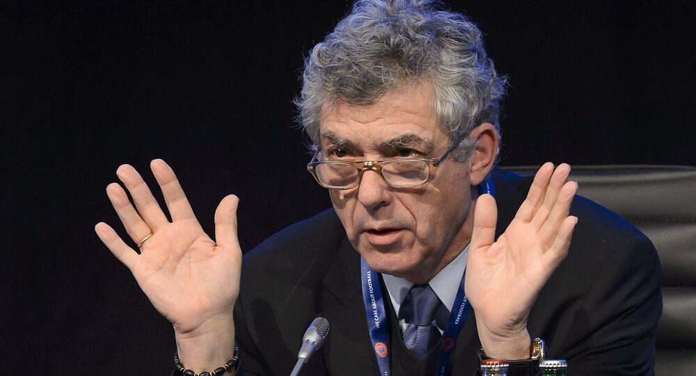 Ángel María Villar, presidente da Real Federação Espanhola de Futebol