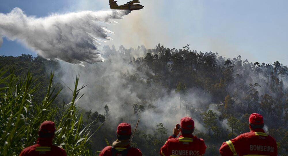 Avião apaga fogo em Portugal, 9 de setembro de 2016