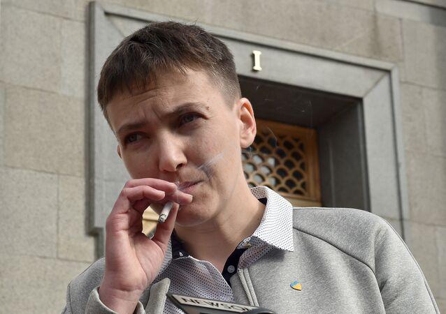 A deputada da Suprema Rada da Ucrânia Nadezhda Savchenko
