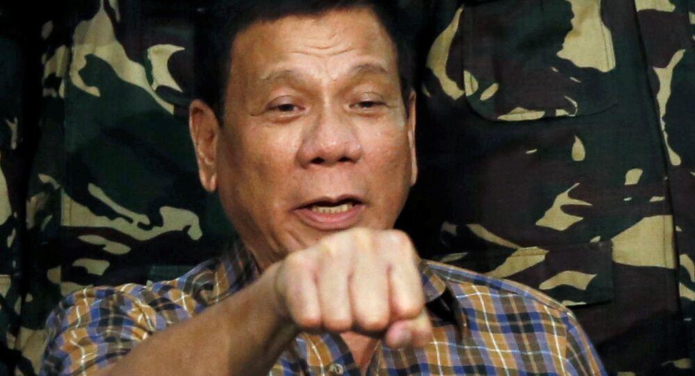 Presidente das Filipinas Rodrigo Duterte