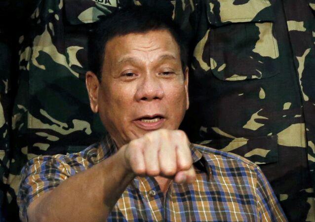 Prisidente das Filipinas Rodrigo Duterte