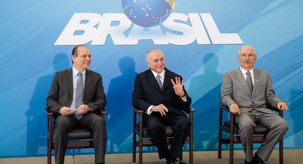 Michel Temer durante cerimônia de anúncio de novas ações de gestão para a melhoria da saúde pública