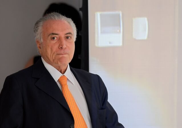 Presidente do Brasil, Michel Temer, chega à apresentação do programa de investimento no Palácio do Planalto, 13 de setembro de 2016