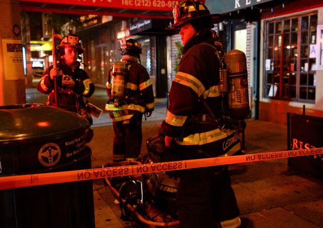 Bombeiros de Nova York atendendo a uma chamada em Manhattan (arquivo)