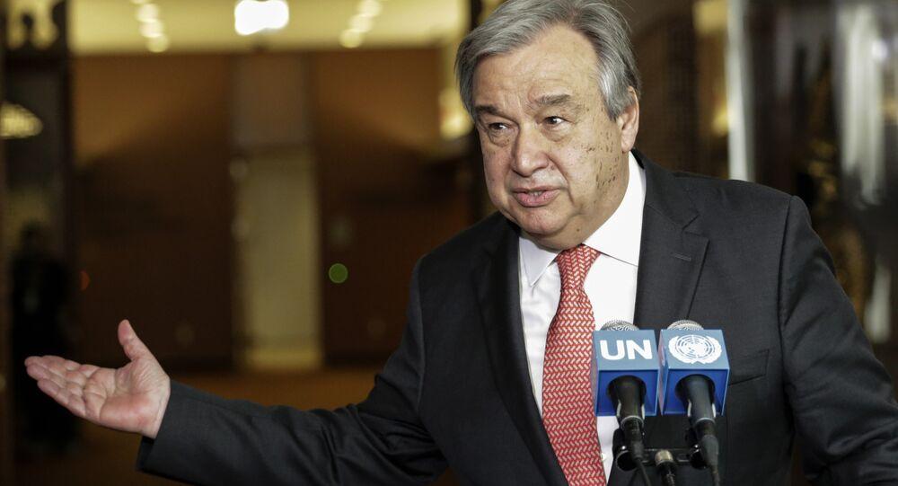 António Guterres falando sobre a eleição de novo secretário-geral da ONU