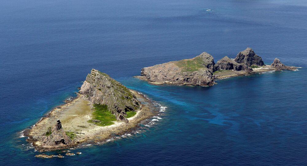 Ilhas Senkaku, no mar da China Oriental