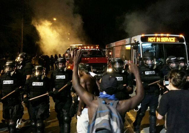 Protesto em Charlotte pela morte de Keith Lamont Scott