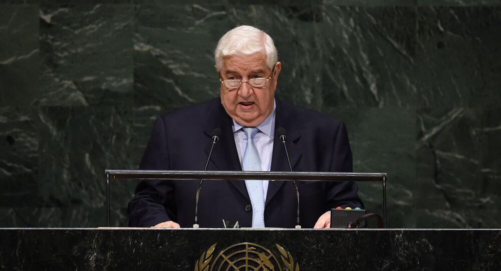 Ministro das Relações Exteriores da Síria, Walid Muallem, na Assembleia Geral da ONU (arquivo)