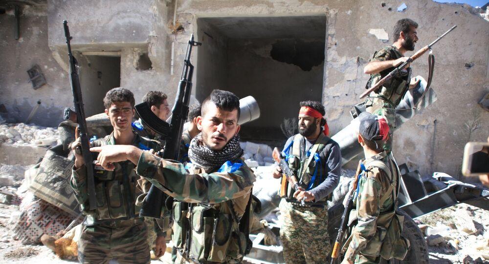 Exército sírio em Handarat, 24 de setsembro de 2016