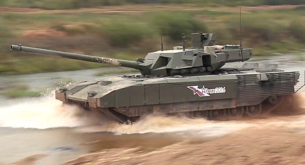 Demonstração do tanque russo T-14 Armata