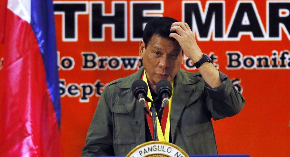 Presidente filipino Rodrigo Duterte