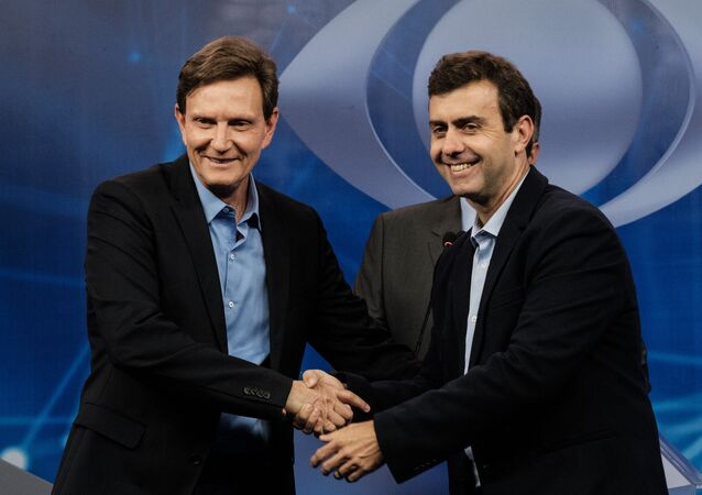 Marcelo Crivella e Marcelo Freixo, candidatos à prefeitura do Rio de Janeiro