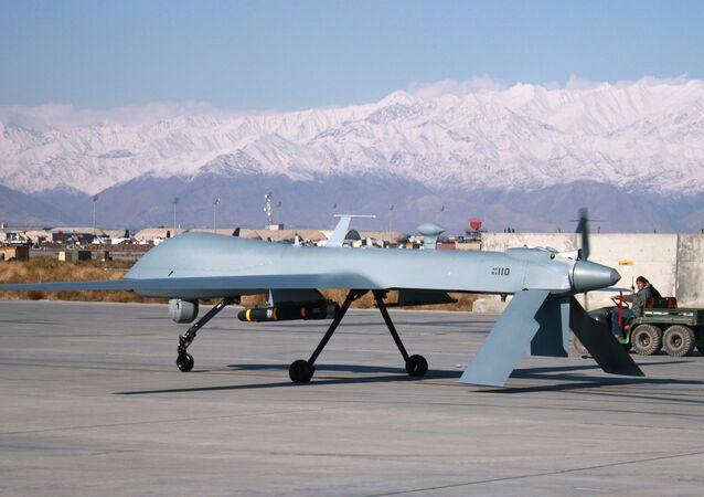 Drone Predator na base aérea de Bagram, no Afeganistão