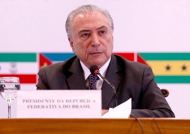 Presidente Michel Temer durante Sessão Solene de Encerramento da XI Conferência de Chefes de Estado e de Governo da Comunidade dos Países de Língua Portuguesa