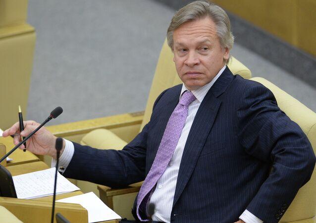 Aleksei Pushkov, presidente do Comitê Internacional da Duma de Estado da Rússia
