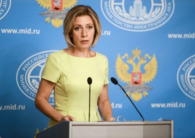 Entrevista coletiva da representante oficial da chancelaria russa Maria Zakharova.