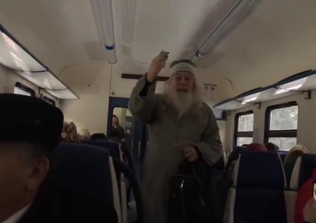 Trem vira palco de batalha entre Dumbledor e Voldemort na Rússia