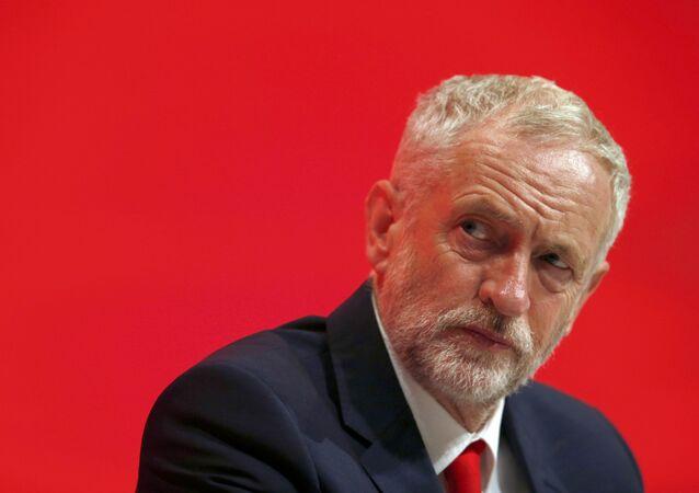 Deputado britânico Jeremy Corbyn, líder do Partido Trabalhista