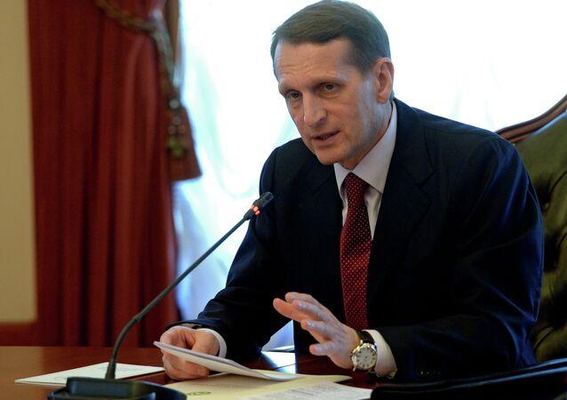 Sergei Naryshkin, presidente da Duma de Estado da Rússia