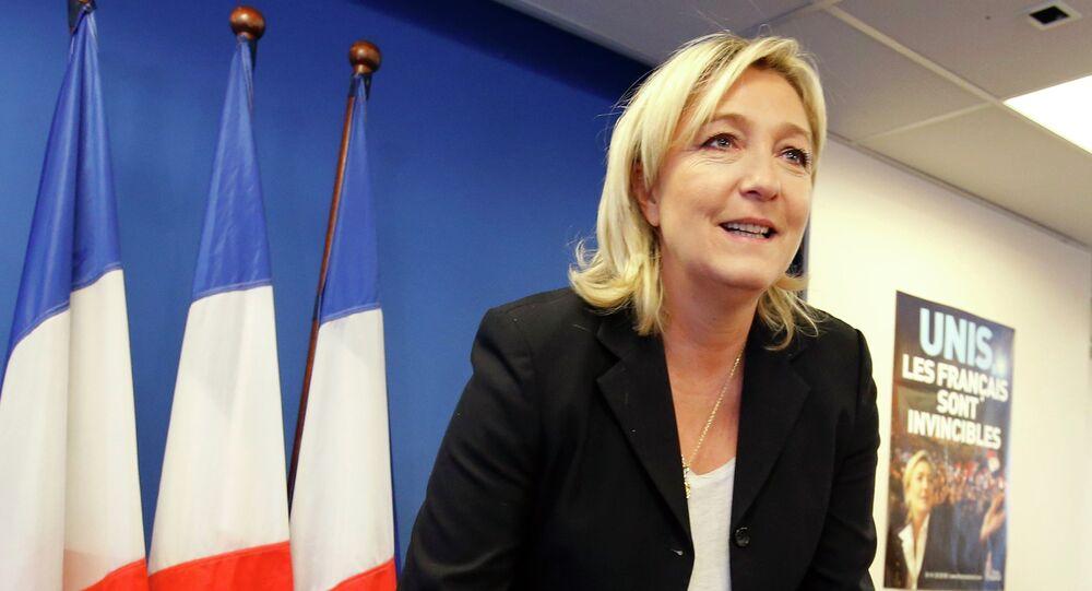 Marine Le Pen, líder do partido Frente Nacional da França