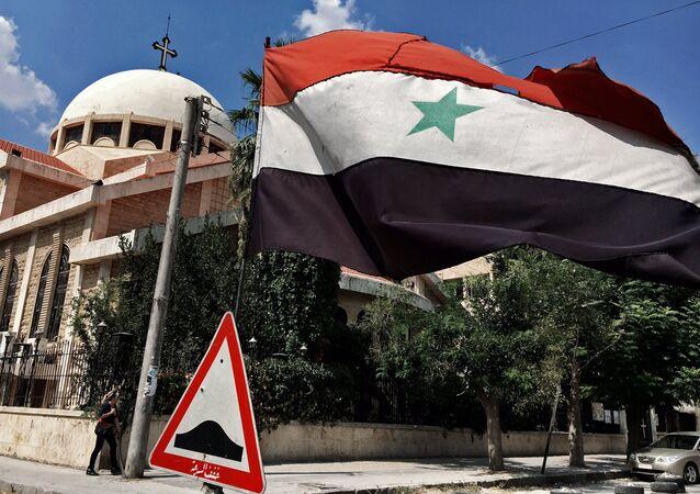 A bandeira da Síria