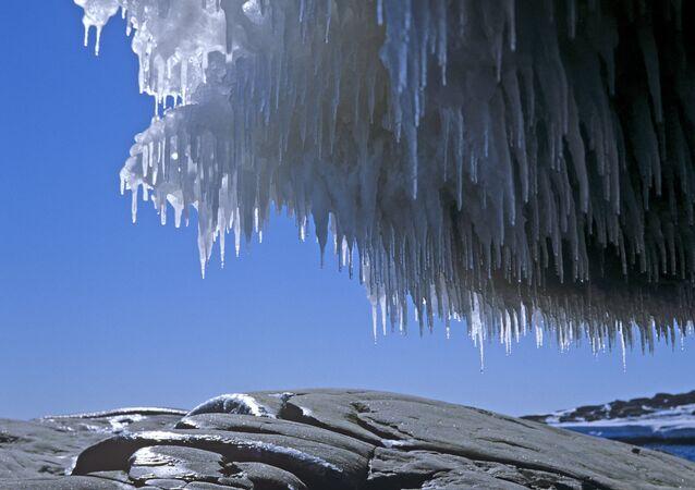 Paisagem da Antártida no verão (foto de arquivo)