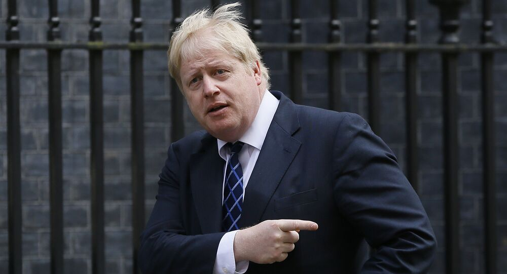 Chanceler britânico Boris Johnson, Downing Street, Londres