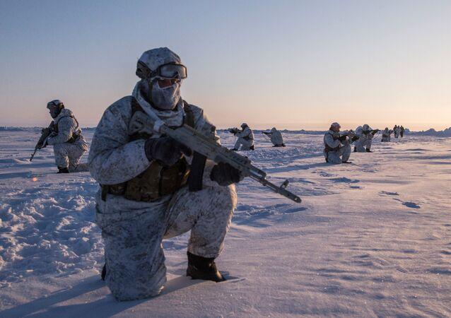 Exercícios de uma unidade russa para operações especiais (foto de arquivo)