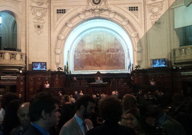 Plenário da Assembleia Legislativa do Estado do Rio de Janeiro (Alerj), 6 de dezembro de 2016