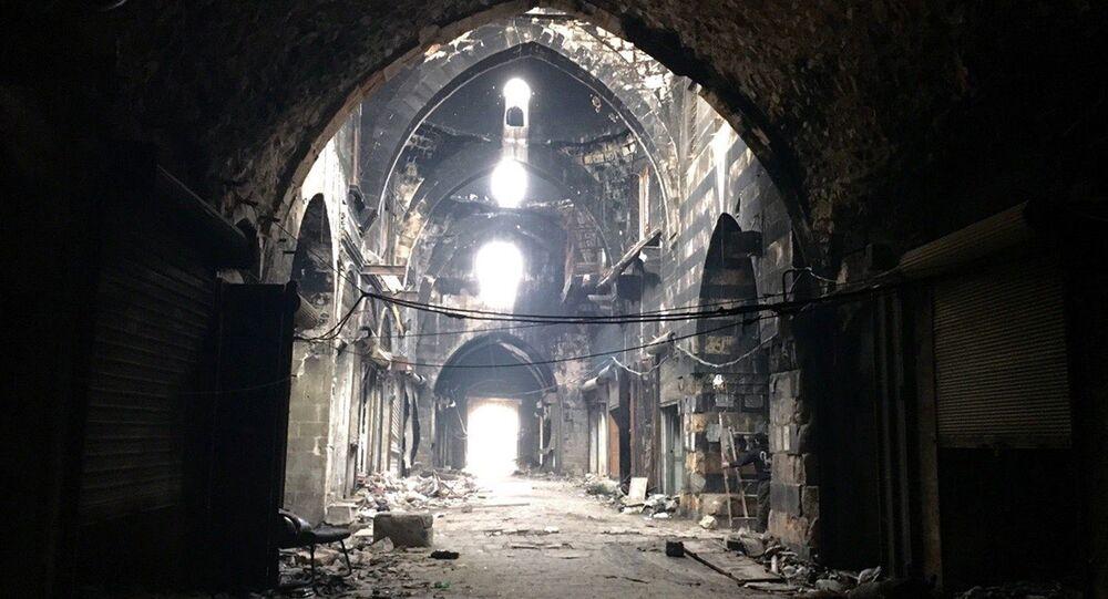 Instalações antigas de um mercado no centro histórico de Aleppo (foto de arquivo)