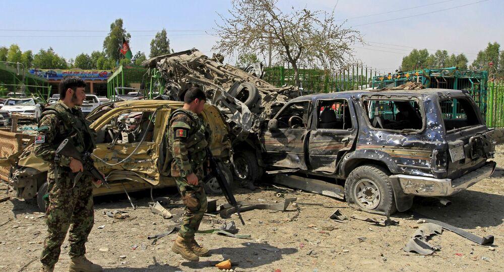 Atentado suicida no Afeganistão.