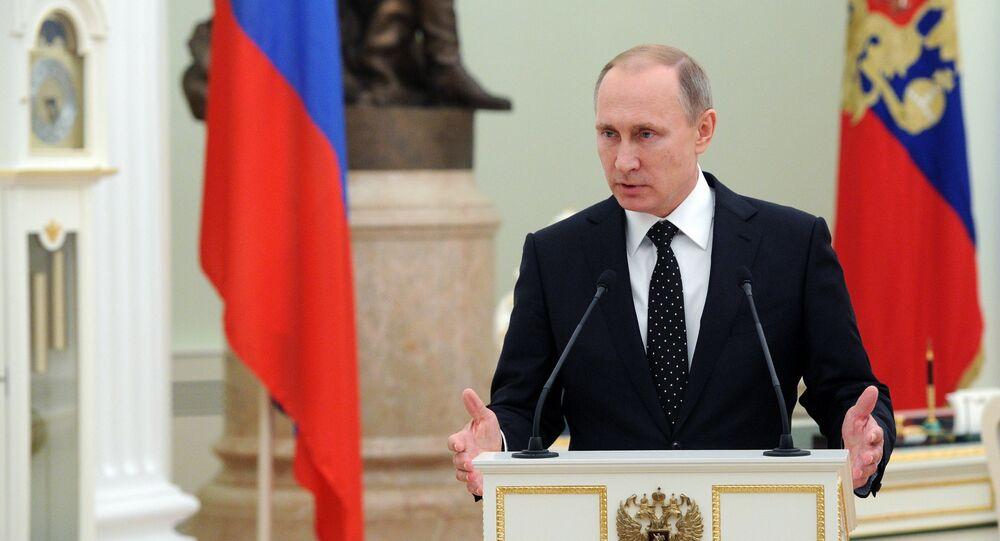 O presidente russo, Vladimir Putin, condecorou com ordens os militares russos que participaram na operação na Síria