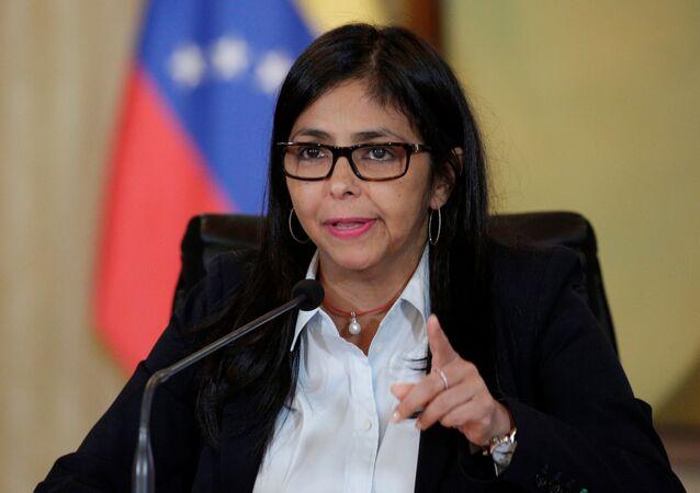 Delcy Rodríguez, vice-presidente da Venezuela (arquivo)