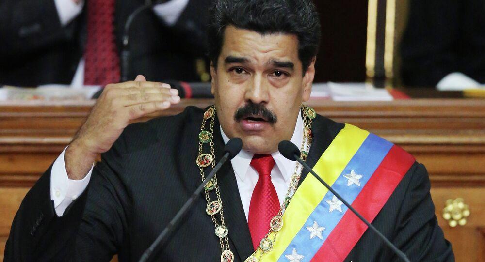 Presidente da Venezuela Nicolás Maduro durante discurso anual na Assembleia Nacional, em Caracas, Venezuela