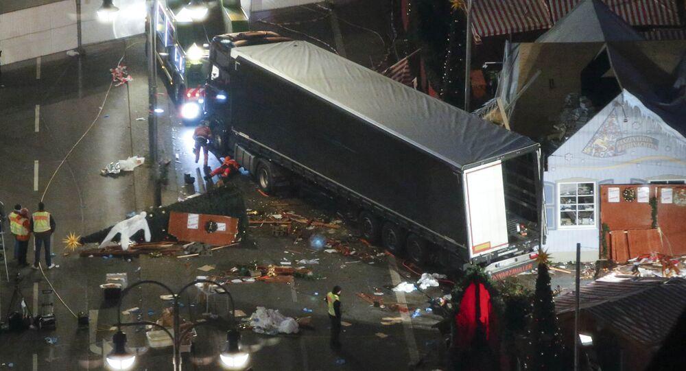 Caminhão usado em atentado terrorista contra uma multidão em Berlim