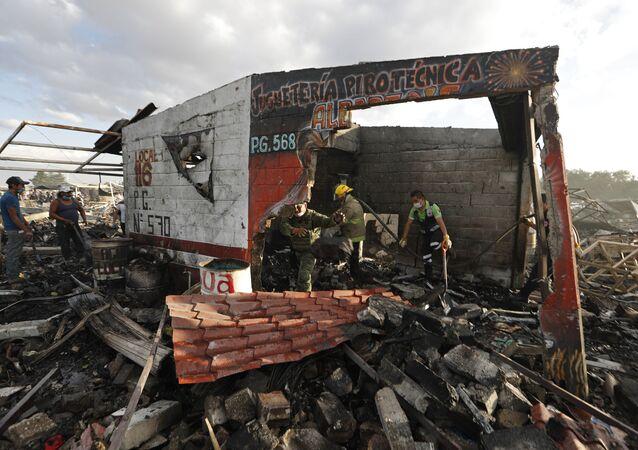 Explosão por fogos de artifício no México