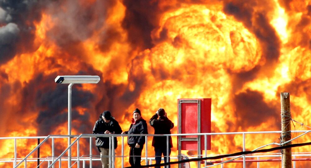 Explosão em refinaria de petróleo em Israel