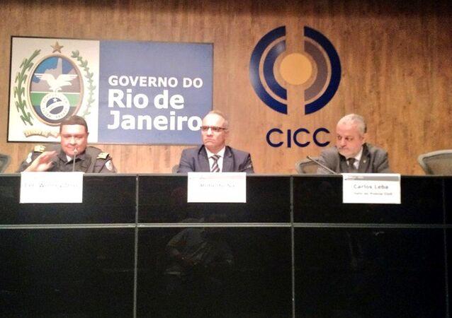 Coletiva de imprensa sobre a criação do Grupo Integrado de Operações de Segurança Pública (Giosp), no CICC